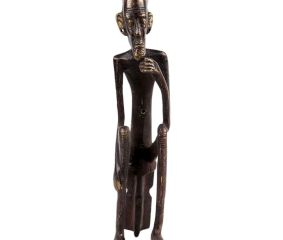 Brass Tribal Old Man Figurine Showpiece