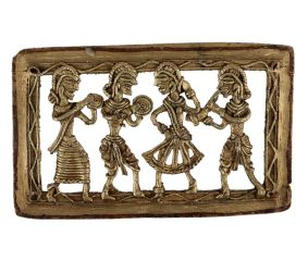 Dhokra Wall Art Hanging  Of Dancer with Musicians Daily Activity