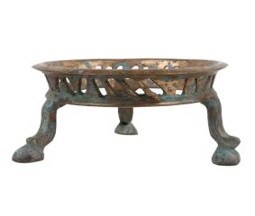 Round Brass Stand Three Legs Pot and Planter Stand