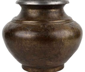 Elegant Brass Garden Pot
