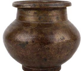 Golden Brass Pot Large Belly Storage Pot