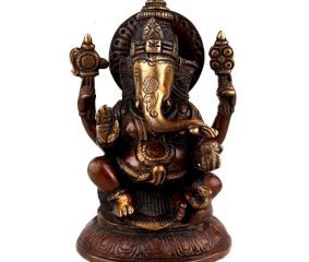 Brass Ganesha Statue Idol Showpiece