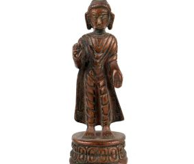 Brass Standing Buddha Statue Home Decoration