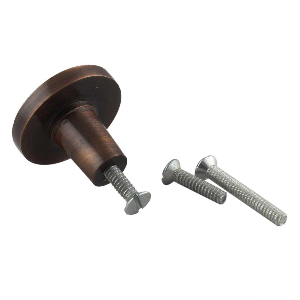 Metallic Brown Round Iron Cabinet Knob