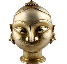 Golden Brass Gauri Head Gangaur Lady Head Statue