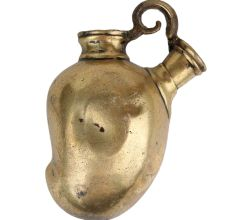 Mango Shape Cast Brass Hookah Base Pot