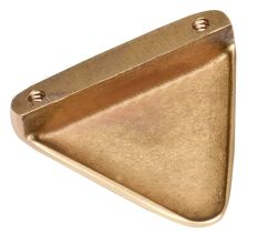 Golden Color Brass Triangular Shape Knob Modern Furniture Hardware