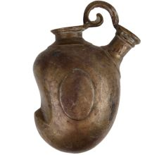 Mango shaped Brass Hookah Base In Rustic Islamic Style