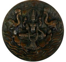 Brass Gajlakshmi Wall Hanging Wall Art