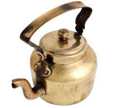 Traditional Indian Brass Kettle Tea Pot