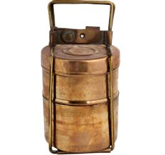 Brass Two Tier Lunch Box Tiffin Box