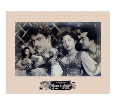 Old Movie Poster Clip Bollywood Movie Hoor-e-Arab