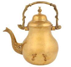 Golden Brass Kettle Or Artistic Tea Pot For Decoration