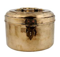 Spacious Brass Chapati Box With Latch