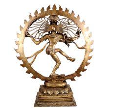 Brass Natraj  Dancing Shiva Statue