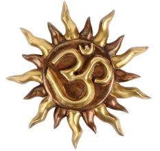 Brass Wall Hanging Aum Surya  Wall Art