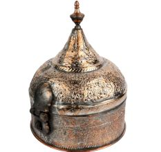 Copper  Indian Paan Daan Dome Lid Finial 6 Storage Box