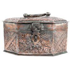 Copper 8 Sided Paan Daan Jewelry Storage Box