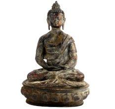 Meditating Brass Buddha Statue