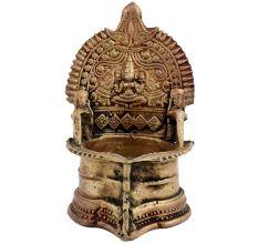 Brass Gaja lakshmi Lamp Jumbo Vilakku oil lamp