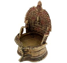Spiritual Temple Brass Oil Lamp
