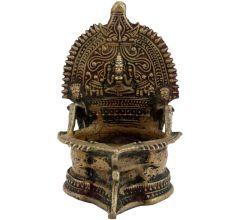 Brass Laxmi Oil Lamp Puja Ritual Alter Lamp