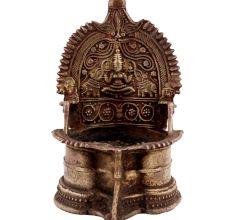 Golden Lakshmi Diya Brass Oil Lamp