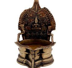 Hindu Goddess LakshmiBrass Oil Lamp