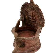 Old Brass Laxmi Oil Lamp Worship Puja Lamp