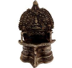 Festive Goddess Lakshmi Brass Oil Lamp