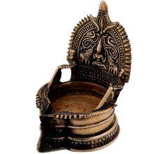 Divine Hand Made Brass Lakshmi Oil Lamp