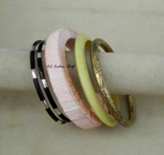 Resin & Shimmery Bangle-05
