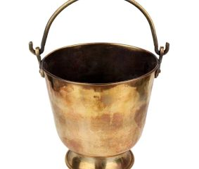 Brass Bucket With Swing handle For Decoration