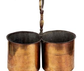 Brass Serving Cups With Handle (In Pair)