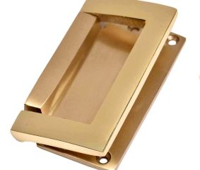 Golden Color  Brass Rectangular Flush Lift Handle Pull Knob