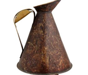 Brass Oil Storage Jug Big Handle