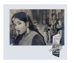 Old Movie Poster or photographic print of Anjam Black and white bollywood movie