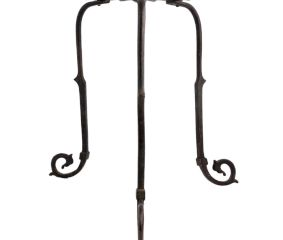 Old Brass Three Legged Stand Hand Forged Hand Design