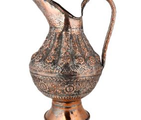 Repousse Copper Water Pitcher Jug