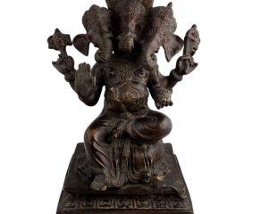 Three Headed Ganesha Statue