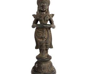 Handcrafted Standing Deep Laxmi Statue Holding Diya