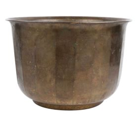 Brass Pot Planter Fluted Design Home Decoration