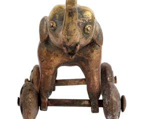 Tribal Elephant On wheel Temple Toy