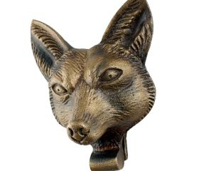 Antique Fox Face Iron Door Knockers
