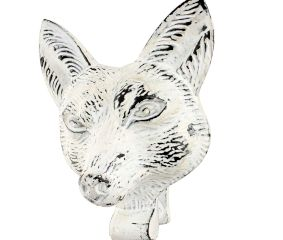 Antique White Fox Face Iron Door Knockers