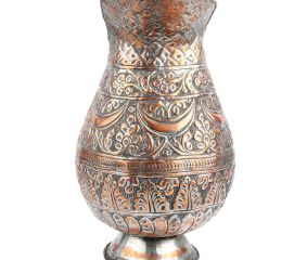 Copper Jug Islamic Style Repousse Pitcher