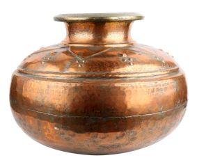 Hand Engraved Islamic Copper Pot Delicate Design