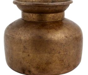 Brass Water Pot Broad Base And Wide Mouth