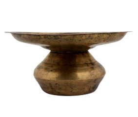 Brass Pot Silapchi Hemispherical Bowl And Wide Rim