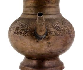 Indian Spouted Floral Brass Pot Lota